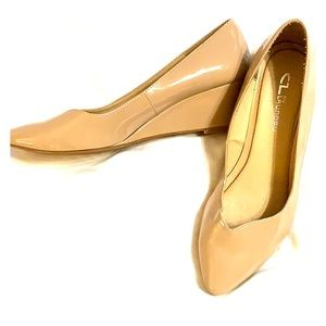 Patent leather Chinese Laundry wedge heels